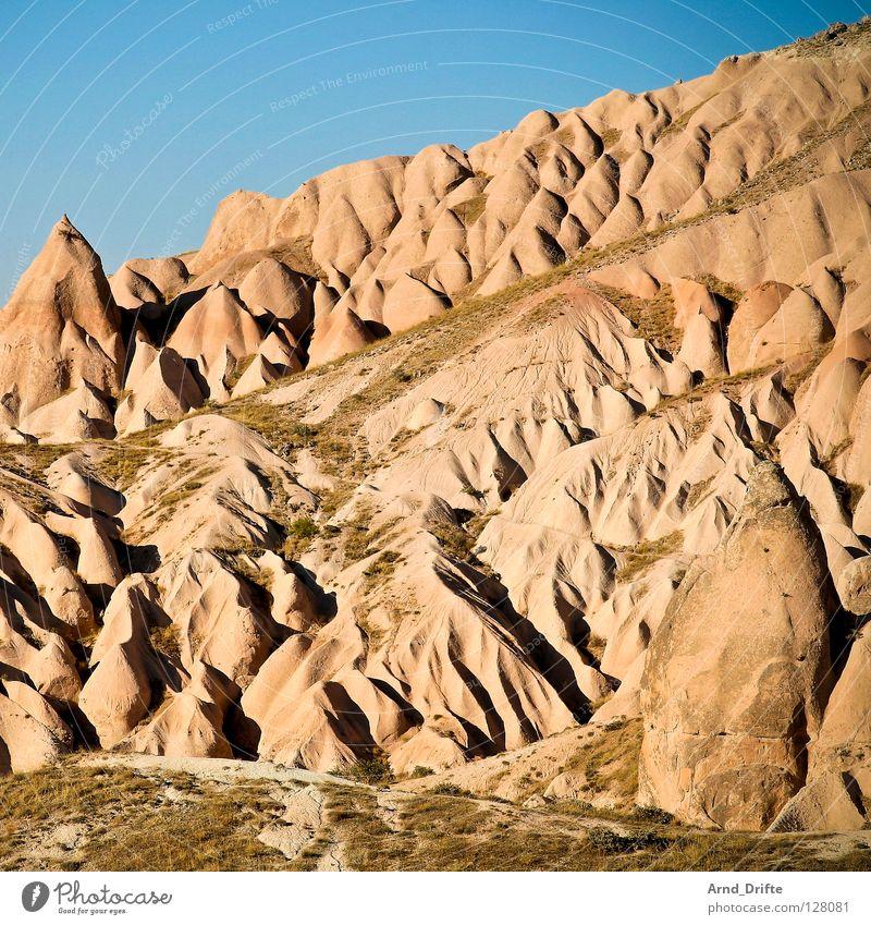 Sahnefelsen Natur schön Himmel blau Sommer Ferien & Urlaub & Reisen Berge u. Gebirge Stein Landschaft Kunst Felsen Ordnung Tourismus Asien Idylle Hügel