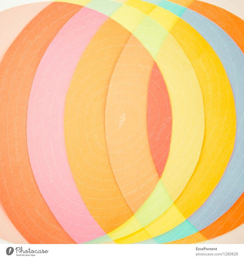 ( ) elegant Stil Design Basteln Zeichen Linie ästhetisch rund blau mehrfarbig gelb orange rosa rot türkis Farbe Grafik u. Illustration Strukturen & Formen Kreis