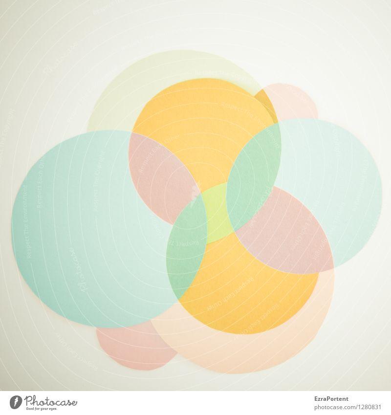 bubble`s elegant Stil Design Basteln Zeichen ästhetisch hell rund blau mehrfarbig gelb orange türkis weiß Farbe Grafik u. Illustration Kreis viele