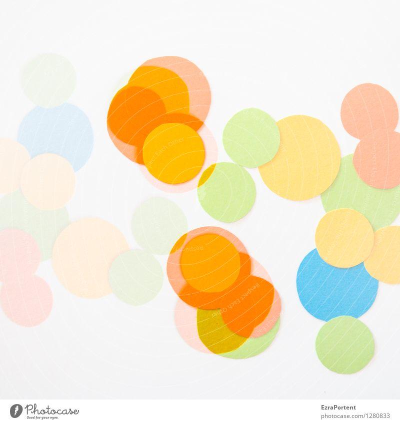 bubbles elegant Stil Design Freude Basteln Zeichen Kugel Linie ästhetisch hell rund blau mehrfarbig gelb grün orange türkis weiß Farbe Werbung Zusammenhalt