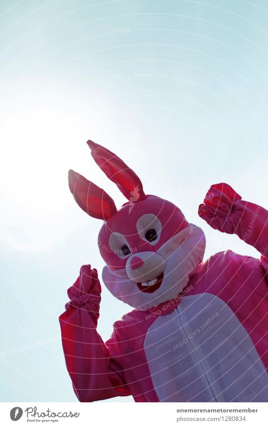 rosa Spaß Kunst Kunstwerk ästhetisch Hase & Kaninchen Hasenohren Hasenjagd Hasenbraten Hasenzahn Hasenpfote Freude spaßig Spaßvogel Spaßgesellschaft