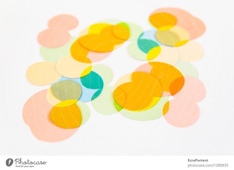 bubble`s blau Farbe weiß gelb Stil Hintergrundbild Spielen hell orange Design elegant ästhetisch Kreis Zeichen Grafik u. Illustration