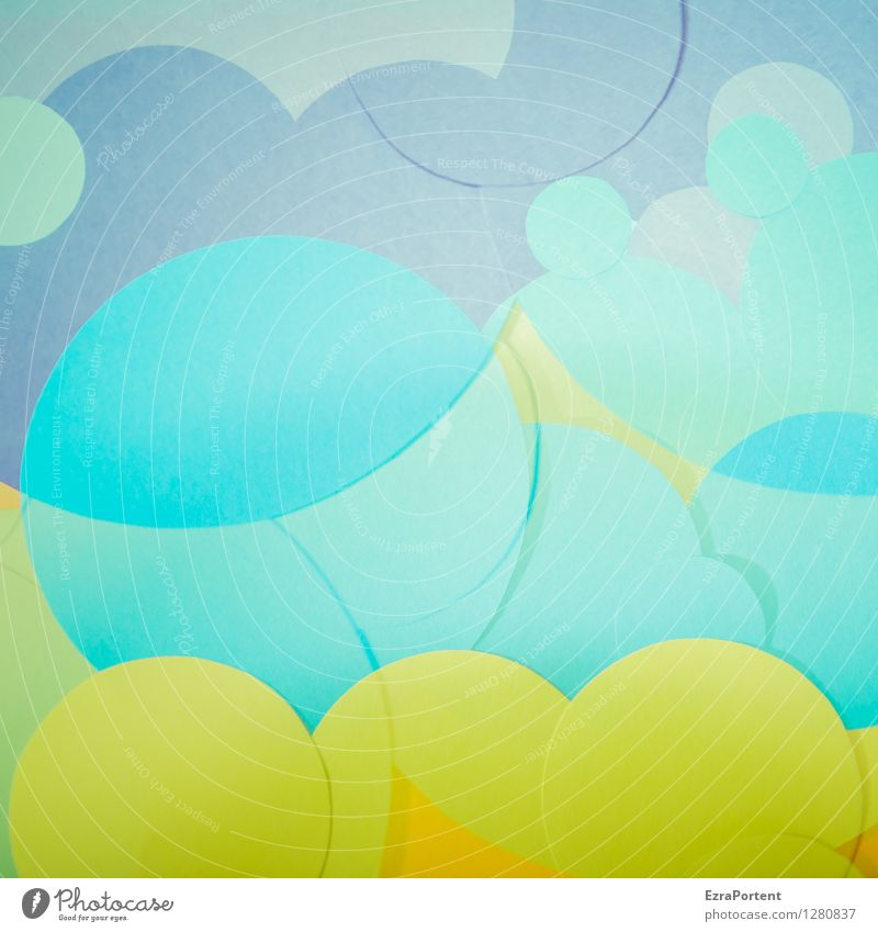 bubble's blau grün Farbe Freude Stil Hintergrundbild Spielen Linie hell Design elegant ästhetisch Kreis Zeichen Grafik u. Illustration