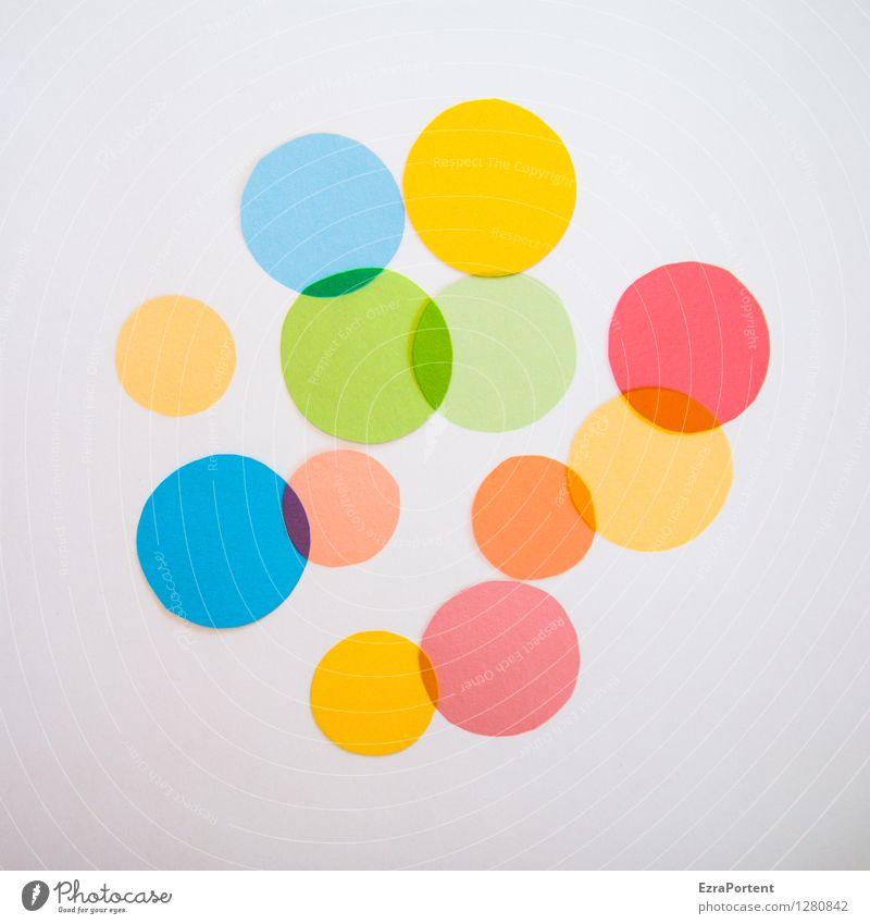 bubbles elegant Stil Design Spielen Basteln Zeichen Kugel ästhetisch hell rund blau mehrfarbig gelb grün orange rot weiß Farbe Grafik u. Illustration
