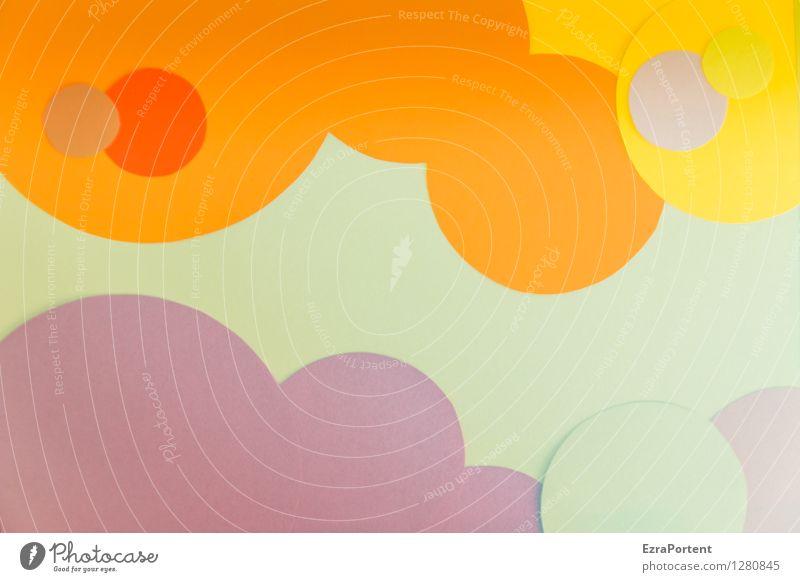 bubbles elegant Stil Design Freude Basteln Zeichen Kugel Linie ästhetisch Fröhlichkeit rund mehrfarbig gelb grün violett orange rot weiß Farbe