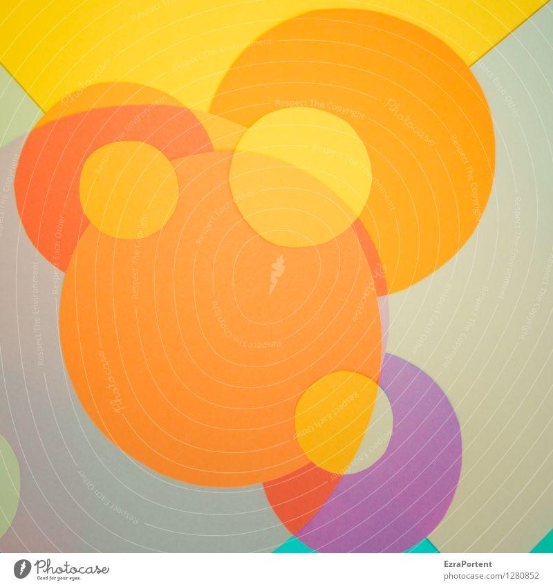 bubbles elegant Stil Design Spielen Basteln Zeichen Linie ästhetisch rund mehrfarbig gelb grau violett orange türkis Farbe Werbung Zusammenhalt