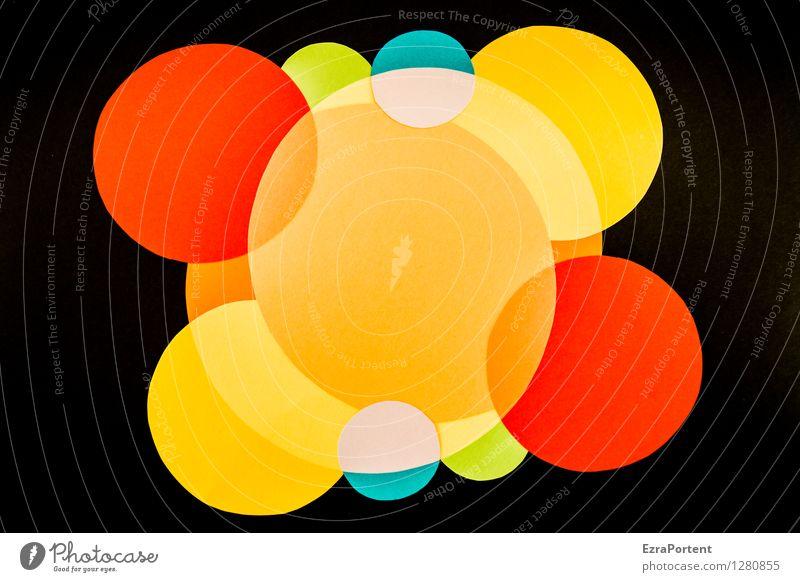 warum bin ich so fröhlich elegant Stil Design Basteln Kunst Zeichen ästhetisch rund blau mehrfarbig gelb grün orange rot schwarz türkis Freude Fröhlichkeit