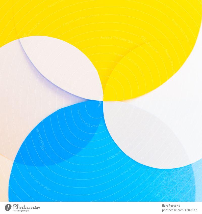 bubbles elegant Stil Design Basteln Kunst Zeichen Linie ästhetisch hell rund blau mehrfarbig gelb weiß Farbe Grafik u. Illustration Geometrie