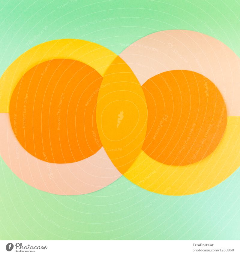 bubble`s elegant Stil Design Basteln Zeichen Linie ästhetisch rund gelb grün orange Farbe Werbung Grafik u. Illustration Grafische Darstellung graphisch Kreis