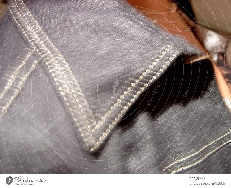 Kragen Mensch Jeanshose Jacke Naht