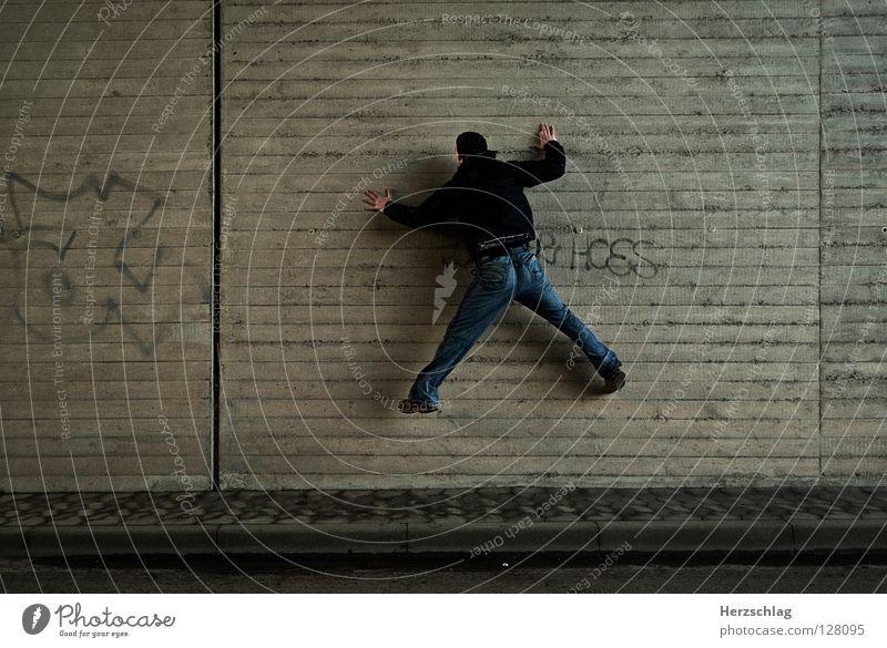 The Wall and Spiderman Freude Wand Mauer Feste & Feiern Kunst Spinne Klebstoff