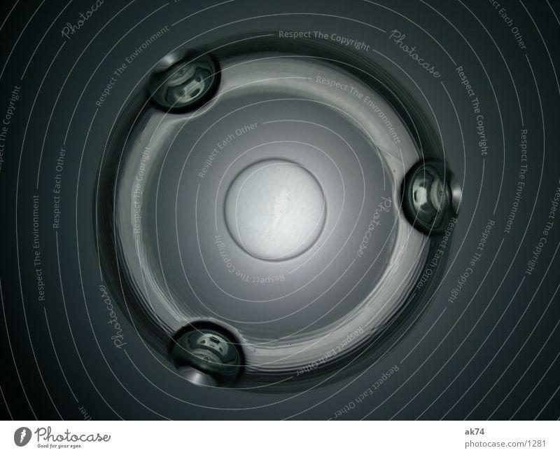 Glasgefäß von Unten rund UFO Dinge Kreis