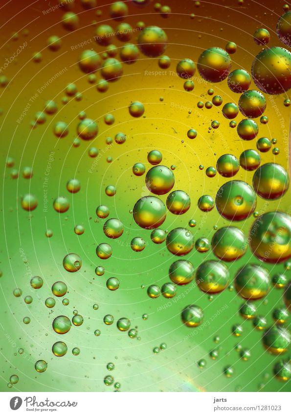 colour your life #9 Wasser außergewöhnlich Flüssigkeit nass braun gelb gold grün Kreativität rund Blase Hintergrundbild mehrfarbig abstrakt Tropfen Schweben