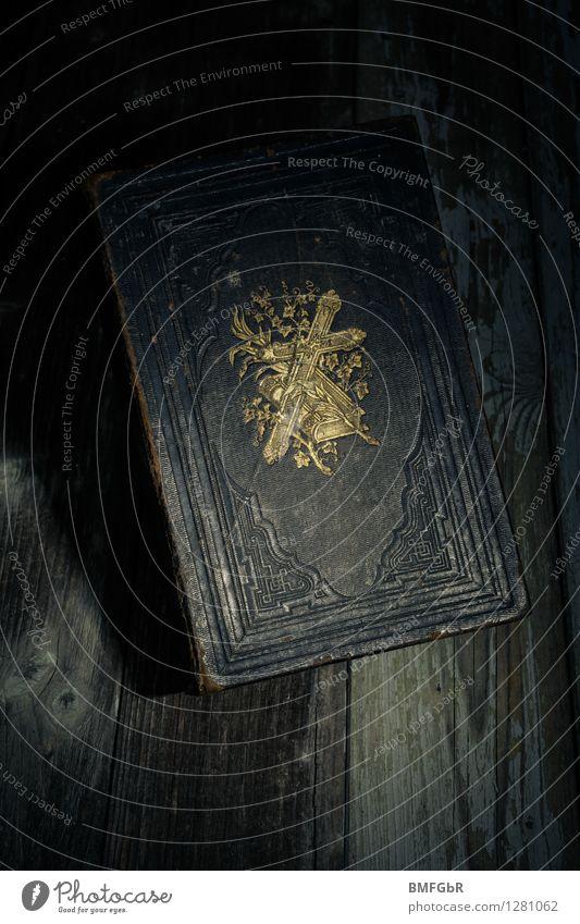 Glaube in Dunkelheit? Halloween dunkel gruselig retro trashig schwarz Tugend Kraft Geborgenheit Rechtschaffenheit Gerechtigkeit Trauer Tod Einsamkeit schuldig