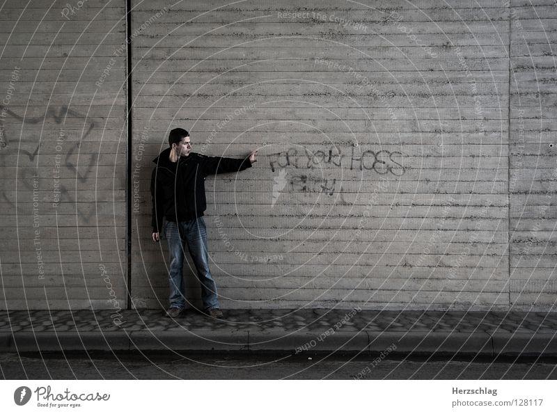 Go Away Einsamkeit Wand Wege & Pfade Graffiti Kraft Arme gehen Schriftzeichen