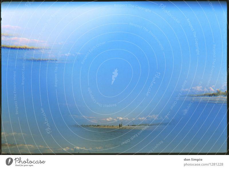 we break through Mensch Himmel Ferien & Urlaub & Reisen blau Wolken Ferne Strand Umwelt außergewöhnlich Stimmung Horizont träumen frei Perspektive Insel