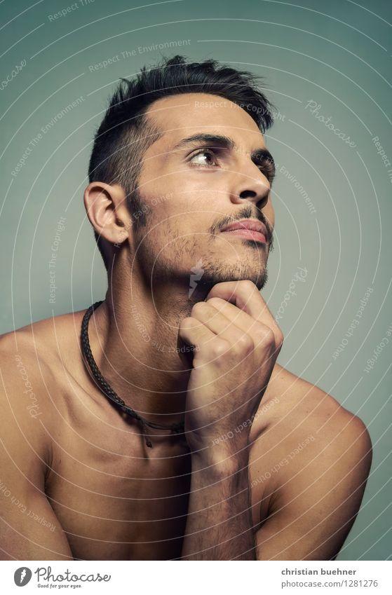 reflections Junger Mann Jugendliche 1 Mensch 18-30 Jahre Erwachsene beobachten Denken genießen Blick ästhetisch authentisch elegant nackt Neugier loyal