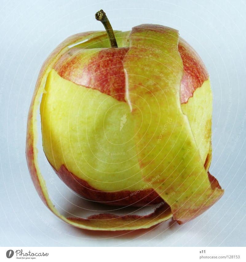 MIToderOHNE II Natur grün rot gelb Ernährung Gesundheit Frucht Haut süß rund Apfel Wut Stengel ohne Glätte Schalen & Schüsseln
