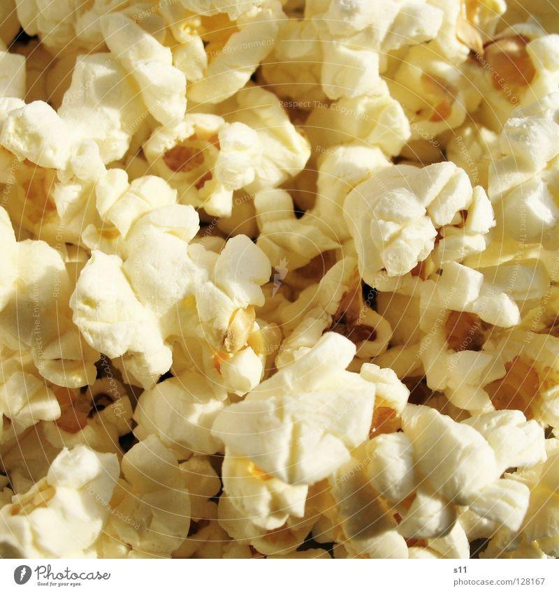 PopCorn Lebensmittel Getreide Ernährung Pfanne Theater Kino Filmindustrie Video Schornstein Mikrowelle frisch lecker gelb weiß Appetit & Hunger Popkorn Korn