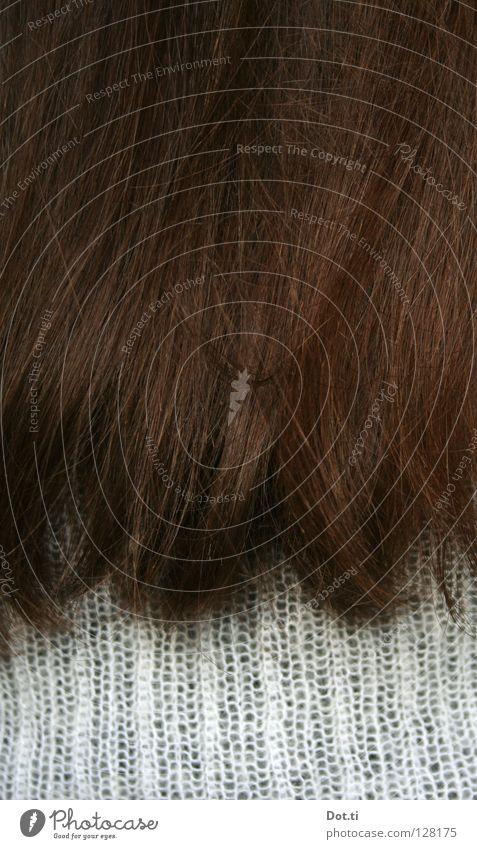 Die Brünette (Substantiv, feminin) Haare & Frisuren 1 Mensch brünett langhaarig natürlich weich braun weiß Haarspitze Frauenhaare dunkelhaarig dunkelbraun