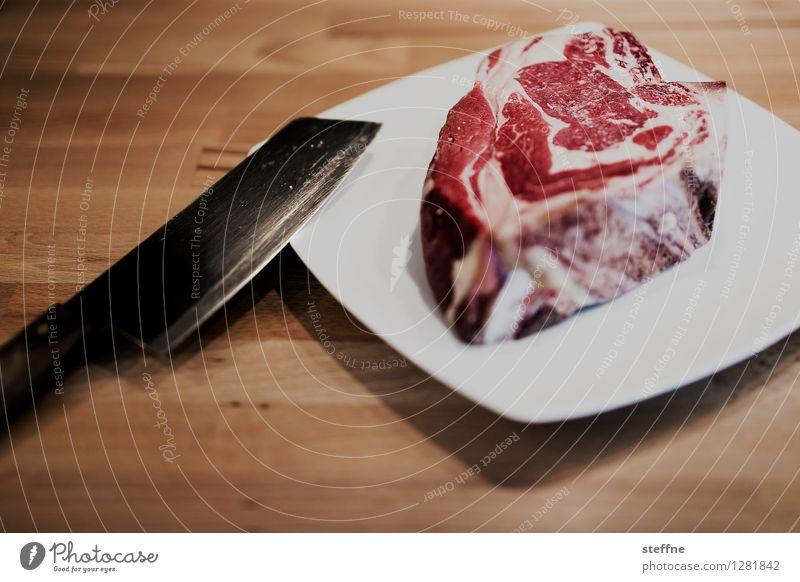 Tierisch gut: Rind Essen Lebensmittel Ernährung lecker Fleisch Abendessen Messer Vegetarische Ernährung Steak Tierhaltung Rindfleisch Schlachtung