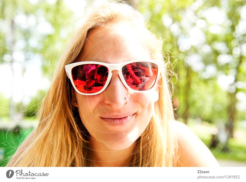 Summerfeeling Natur Ferien & Urlaub & Reisen Jugendliche schön Sommer Junge Frau Baum Erholung 18-30 Jahre Erwachsene natürlich feminin Glück lachen Lifestyle