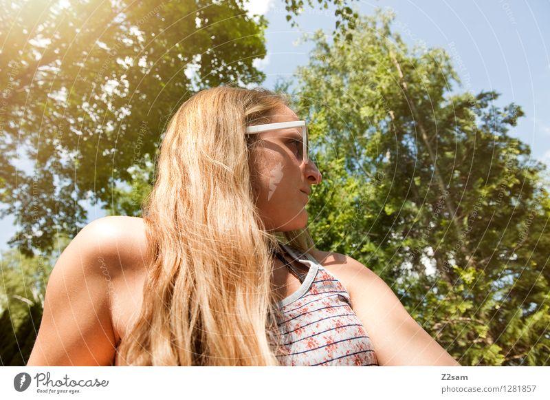 Am see Natur Ferien & Urlaub & Reisen schön Sommer Baum Erholung Freude Umwelt Stil Gesundheit Denken Lifestyle Freiheit Zufriedenheit Idylle blond