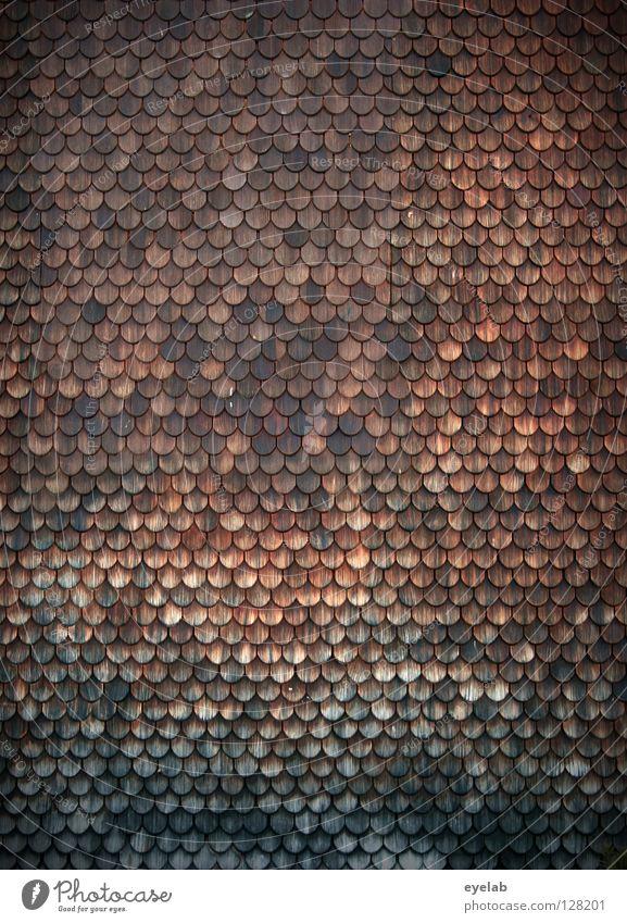 ANALOGPIXEL alt grün schön Haus Gebäude Holz braun Deutschland dreckig Ordnung Dach Schutz Neigung historisch Hütte Maske