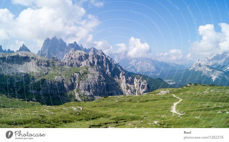 Dolomiten Ferien & Urlaub & Reisen Tourismus Ausflug Berge u. Gebirge wandern Umwelt Natur Landschaft Urelemente Sonne Sommer Schönes Wetter Felsen Alpen