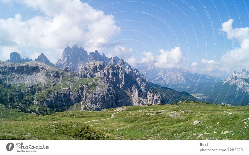 Dolomiten II Ferien & Urlaub & Reisen Tourismus Berge u. Gebirge Umwelt Natur Landschaft Urelemente Himmel Wolken Sommer Wiese Hügel Alpen Cadini Gruppe Gipfel