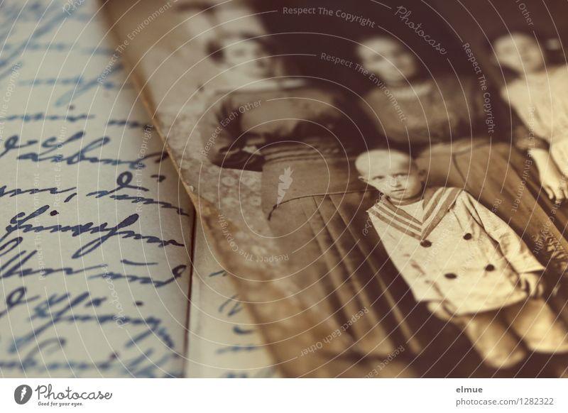 Kurt Traurigkeit Senior braun Kindheit Schriftzeichen Fotografie einzigartig Papier retro Ewigkeit historisch Trauer Vergangenheit Sehnsucht Schriftstück Schmerz