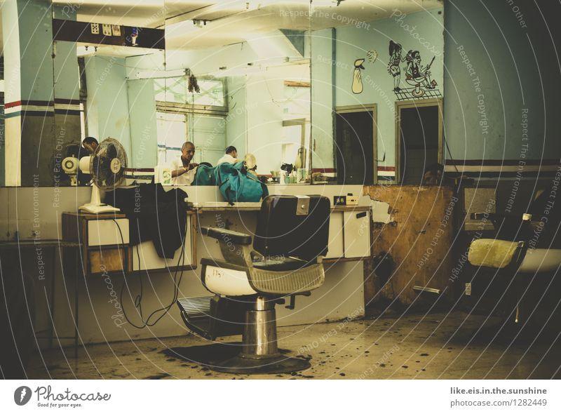neulich in Kuba beim Friseur schön Ferien & Urlaub & Reisen Abenteuer Ferne Arbeit & Erwerbstätigkeit Arbeitsplatz maskulin Haare & Frisuren alt exotisch Stadt