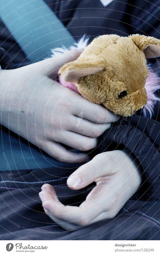 Schlafwagen (2) Kind Hand schlafen Autofahren Autositz Kindersitz Gurt unterwegs Zeit Ausdauer geduldig bleich Spielzeug Stofftiere Kuscheln Meerstraße Fasten