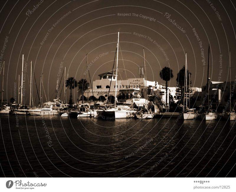 Hafen Tunesien Meer Wasserfahrzeug Sportboot Jacht