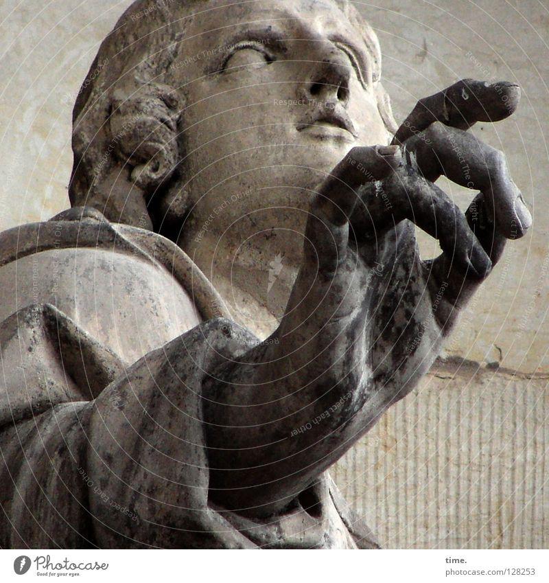 Sticky Fingers Gesicht Renovieren maskulin Mann Erwachsene 1 Mensch Kunst Skulptur Wahrzeichen Denkmal Sandstein Stein alt dreckig heilig Dresden Erinnerung