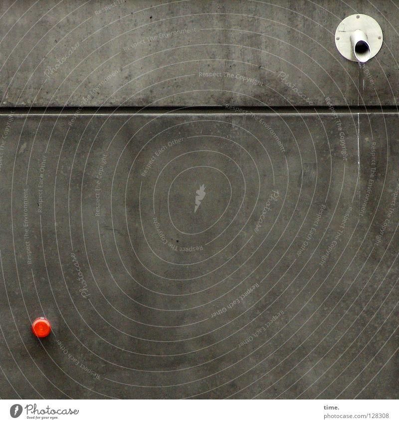 Dialog weiß rot dunkel Wand Architektur Mauer Lampe offen Schilder & Markierungen Beton Hinweisschild einzigartig Spielfeld Konflikt & Streit Handwerk Putz