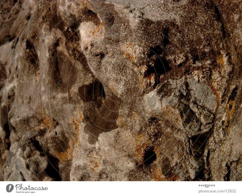 Der Stein Natur Felsen Loch Oberfläche rau hart Sandstein Sediment Oberflächenstruktur uneben