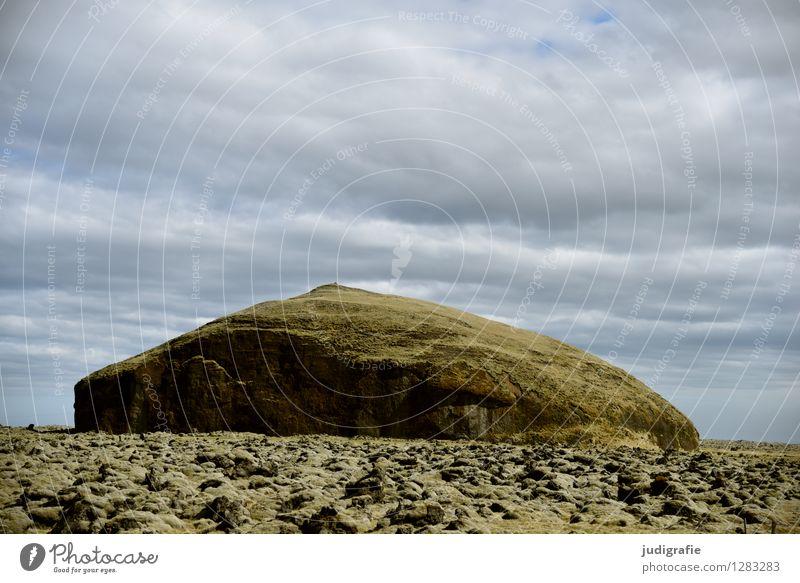 Island Umwelt Natur Landschaft Urelemente Himmel Klima Vulkan außergewöhnlich natürlich Lavafeld Farbfoto Außenaufnahme Menschenleer Tag