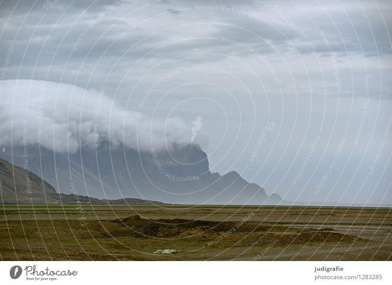 Island Umwelt Natur Landschaft Himmel Wolken Klima Wetter Felsen Berge u. Gebirge Küste außergewöhnlich fantastisch natürlich wild Farbfoto Gedeckte Farben