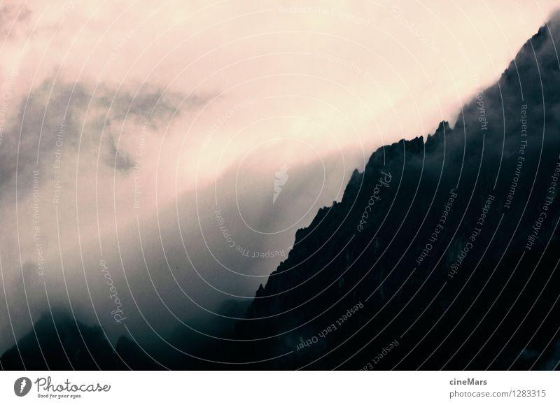 bedrohlich Natur Landschaft Wolken Gewitterwolken Sonnenaufgang Sonnenuntergang Sommer schlechtes Wetter Unwetter Nebel Alpen Berge u. Gebirge