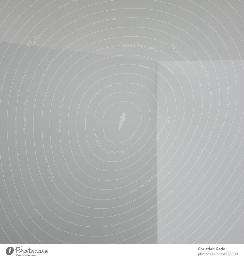 Ecke oder Kante? alt weiß Farbe Wand grau Stein Mauer Gebäude Raum Wohnung Beton Treppe neu trist