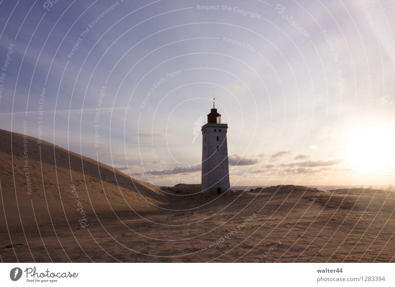 Leuchtfeuer offline Ferien & Urlaub & Reisen Ausflug Sommer Sommerurlaub Sonne Umwelt Landschaft Sand Himmel Wolken Sonnenlicht Hügel Küste Nordsee Leuchtturm