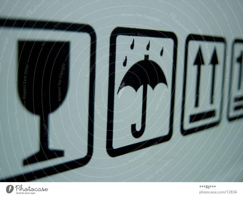 Regenzeichen Regenschirm Makroaufnahme Nahaufnahme Blütenkelch Wassertropfen Pfeil Versand Güterverkehr & Logistik Sicherheit
