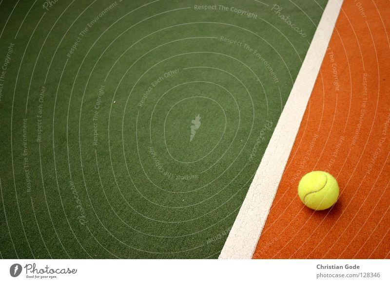Voll im Feld grün weiß Winter gelb Sport Spielen springen Linie orange Freizeit & Hobby Geschwindigkeit Netz Italien Lagerhalle Teppich Tennis