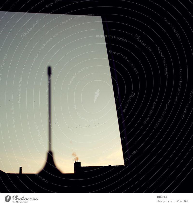 URBAN DREAMS Winter ruhig schwarz Haus dunkel kalt Spielen träumen Hintergrundbild neu Industrie Dach Niveau Spitze Rauch Aussicht