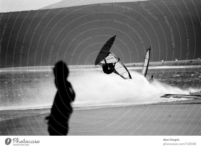 ready,...set,launch Meer Strand Sport Wellen Wind analog Flughafen Publikum Surfer Wassersport Fuerteventura bearbeitet