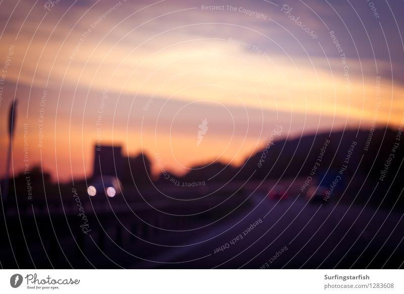 Reise ans Ende der Nacht Ferien & Urlaub & Reisen Sonnenaufgang Sonnenuntergang Verkehr Verkehrsmittel Verkehrswege Personenverkehr Straßenverkehr Autofahren