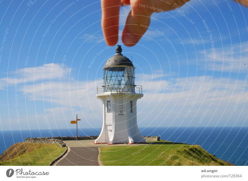 Du bist am Zug! Umhang Neuseeland Küste Leuchturm Cape Reinga Tasman Sea Pacific Sea