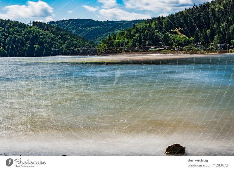 Am See 2 Himmel Natur Ferien & Urlaub & Reisen Sommer Wasser Sonne Erholung Meer Wolken Strand Wald Berge u. Gebirge Umwelt Sport Schwimmen & Baden Wetter