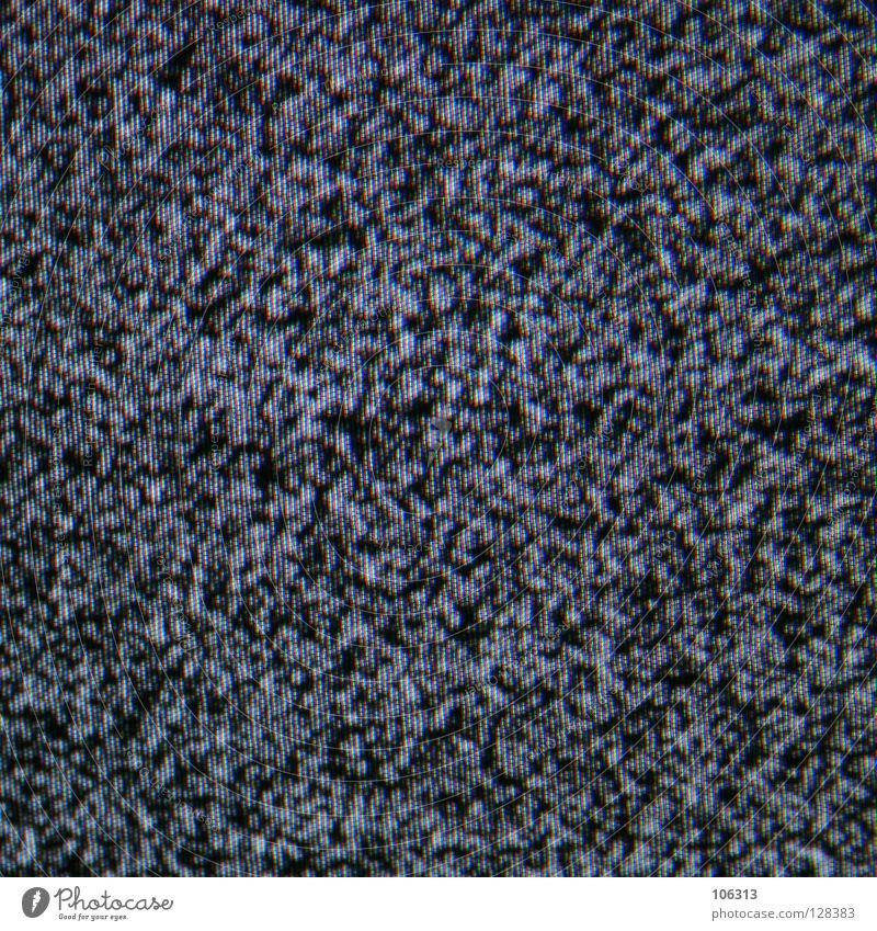 SLEEPERS weiß schwarz Ferne Bewegung grau Erde glänzend schlafen leer trist Fernseher Fernsehen Ende Bild Punkt Sturm